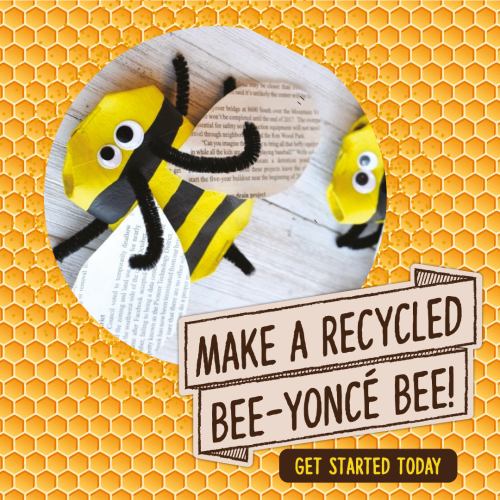 How to make your own Bee out of recycled materials!